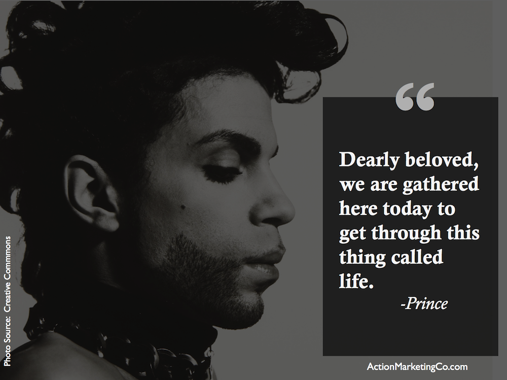 Dearly beloved…